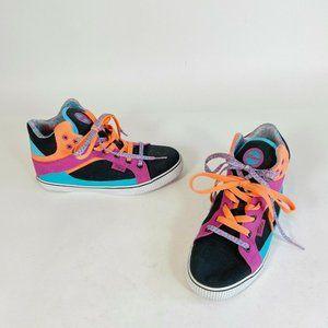 Pastry Sire Colorblock Canvas High Top Retro 80 90 Sneakers Womens US 8.5 y2k